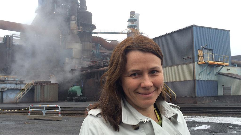 Klimat- och miljöminister Åsa Romson(MP). Foto: Ulf Larsson/ Sveriges Radio