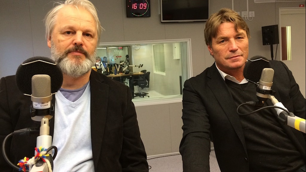 Lars Olof Lampers och Thomas Bodström. Foto: André pettersson/ Sveriges Radio