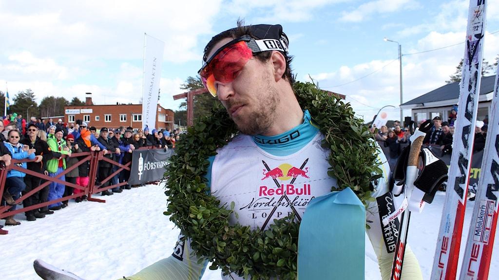 Norrmannen John Kristian Dahl tog hem segern i det 20 mil långa Nordenskiöldsloppet i Jokkmokk.