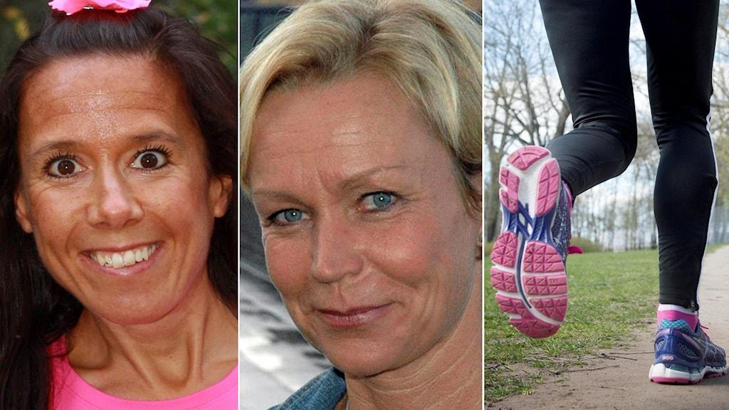 Johanna Nilsson, Anneli Lindbäck och löpare.