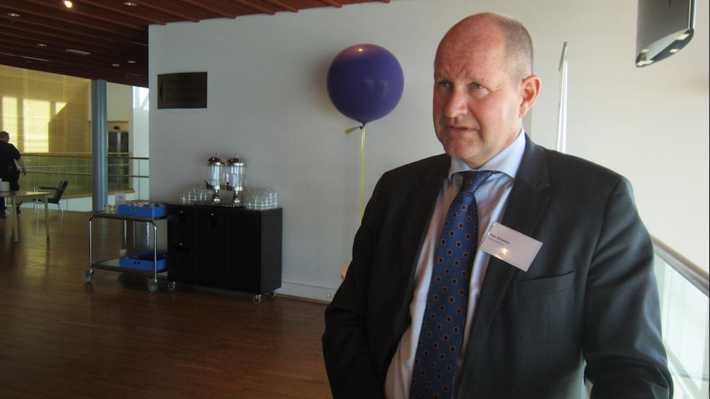 Rikspolischefen Dan Eliasson, kulturens hus. Foto: Beatrice Karlsson/Sveriges Radio.