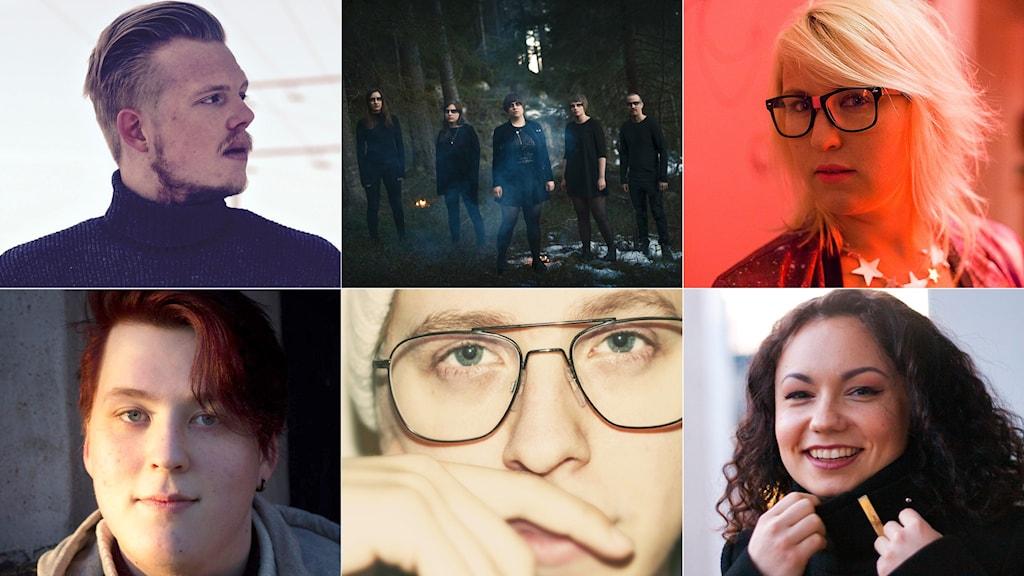 Bidragen i Svensktoppen nästa i P4 Norrbotten 2016: Arvid Ingberg, Norra Reviret, Brita Kristina, Marcus Rosenberg, Georgios och SaVe.