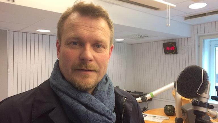 Joakim Fagervall i P4-studion