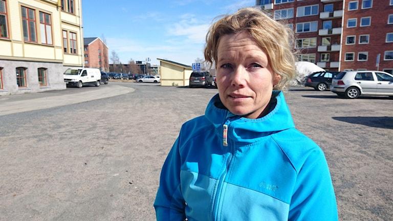 Annika Johansson ordförande Bodens tävlingsryttarsällskap. Foto: Beatrice Karlsson/Sveriges Radio.