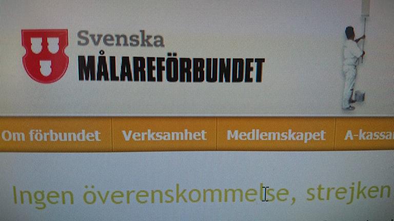 Svenska Målareförbundet. Foto:Beatrice Karlsson/Sveriges Radio.