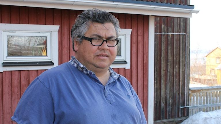 Läraren Kristian Sörbring som jobbar i Abisko.