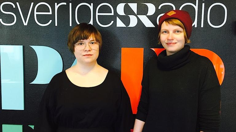 Janinne Sandström Oja med kamrat från Norra Reviret.