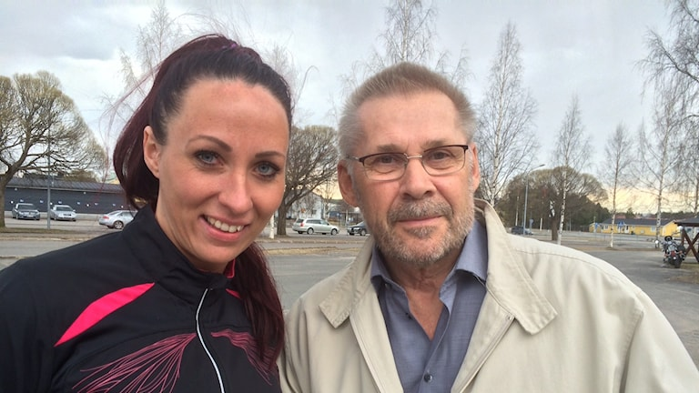 Boden Handbolls Annica Ölén och Jalle Svanberg.