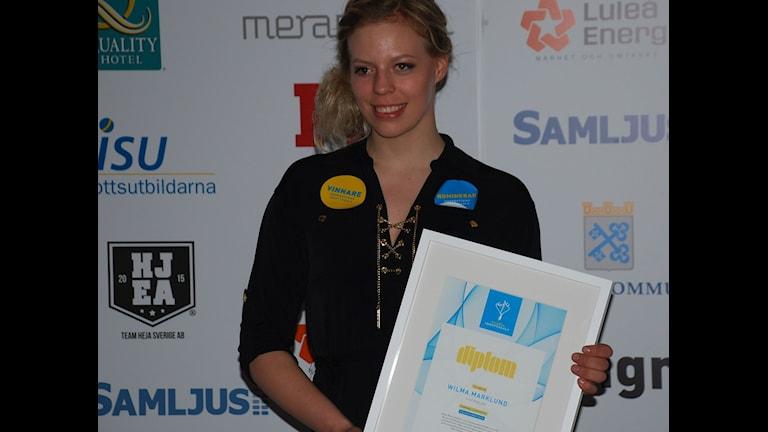 Wilma Marklund vinnare av Folkets röst under Norrbottens idrottsgala 2016