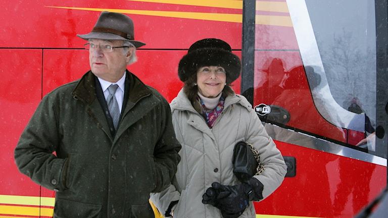 Kungaparet besöker Kiruna på onsdagen.