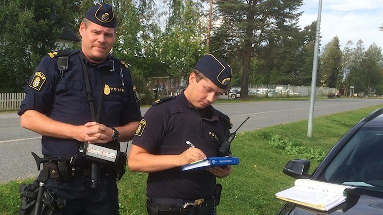 Oidentifierade trafikpoliser, Gammelstad, Luleå.