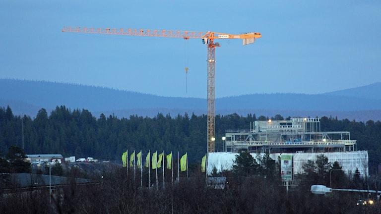 Det första kvarteret ska byggas bredvid det nya stadshuset i Kiruna.
