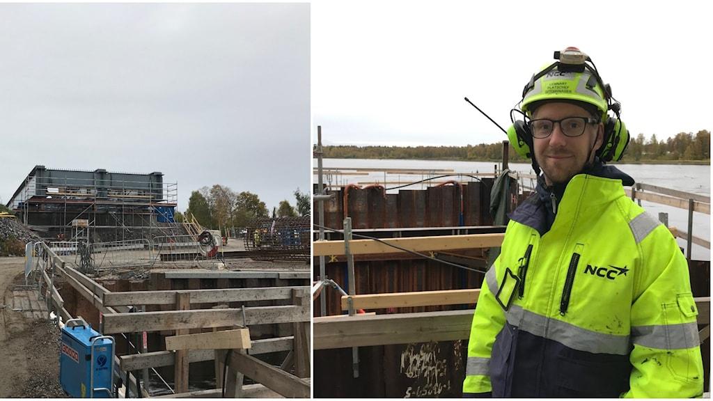 Lennart Nilsson blockchef NCC för bygget av E4bron i Kalix