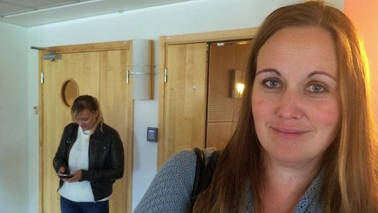 Lärarstudenten Johanna Hugosson tycker att det är en fördel att utbildningen bedrivs som distans.