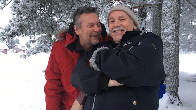 Kjell Morin och revyvännen Hans Pella