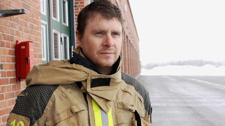 Fjällräddaren Sven-Erik Frånberg är brandman i Kiruna.