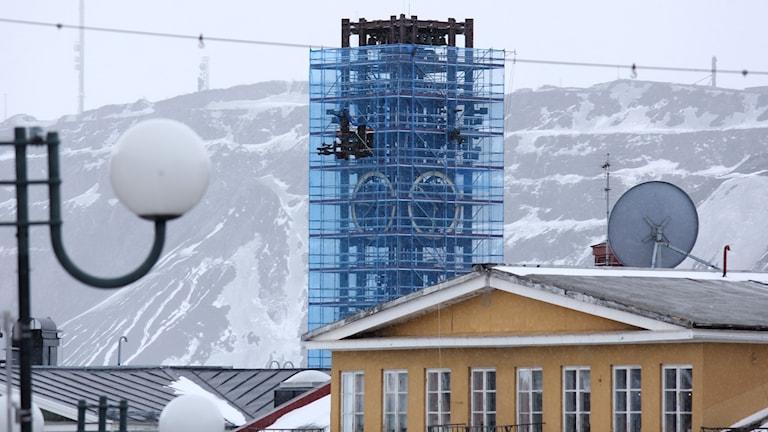 När klocktornet i Kiruna inspekterades för några veckor sedan upptäcktes rost.