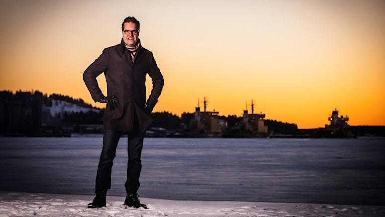 Karlavagnens nye programledare Pekka Kenttälä.