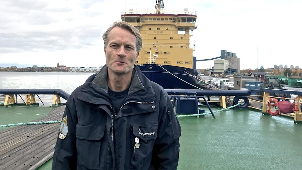 Karl Herlin, befälhavare på isbrytaren Atle.