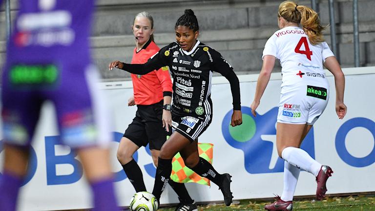 Piteå IF:s Madelen Janogy mot FC Rosengård i damallsvenskan i fotboll