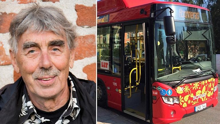 Lasse Åberg och LLT-buss