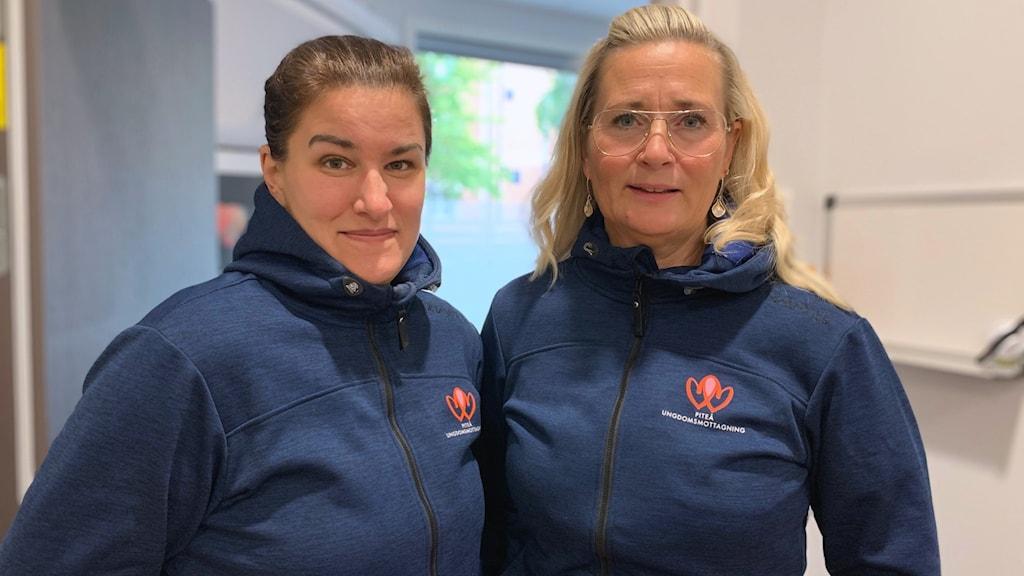 Malin Lundström och Magdalena Berggren, kuratorer vid ungdomsmottagningen i Piteå.