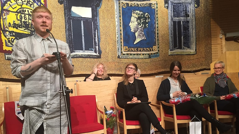 Vinnarna: Dansaren Marcus Baldemar, musikern Jonna Löfgren, författaren Elin Ruuth och konstnären Anja Örn.