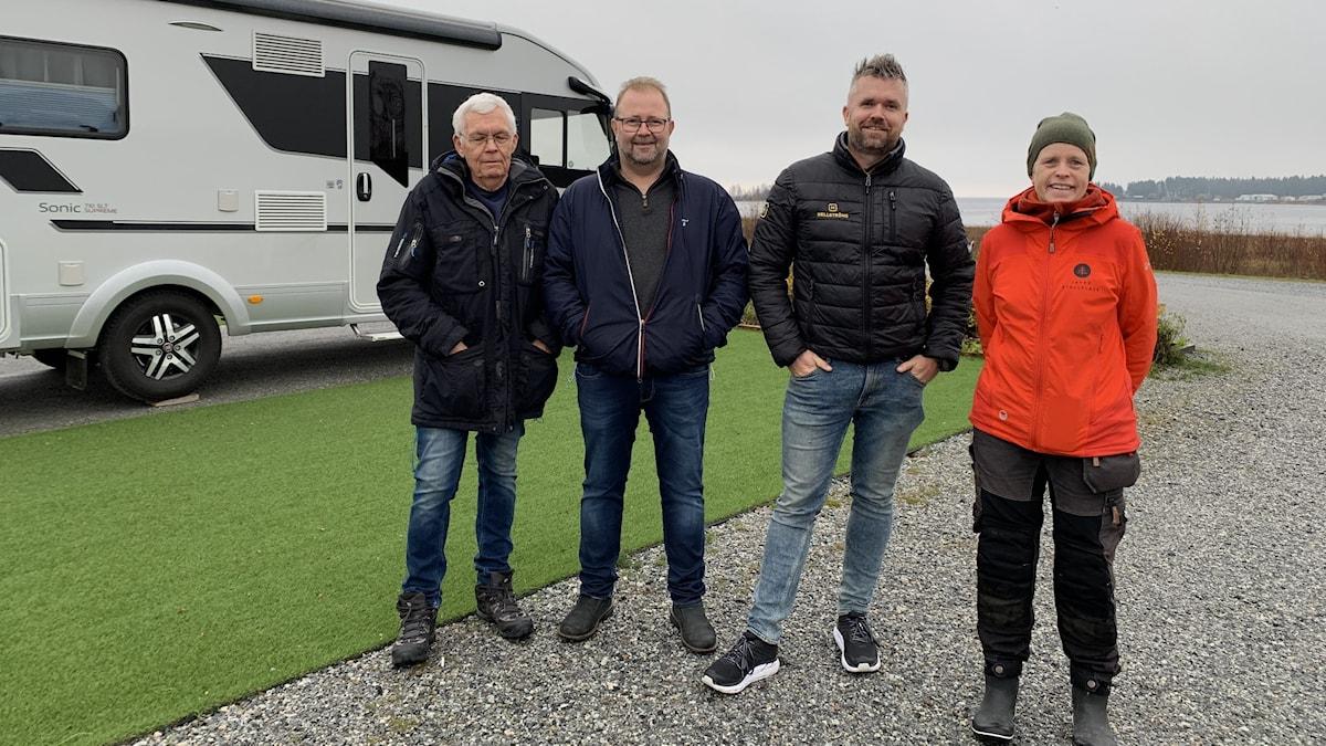 Delägarna Tore, Roland, Samuel och Marie.