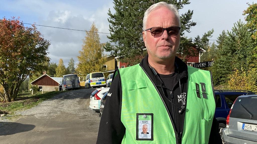 Krister Lindbäck, som är med i ledningsgruppen för Missing people i Norrbotten.