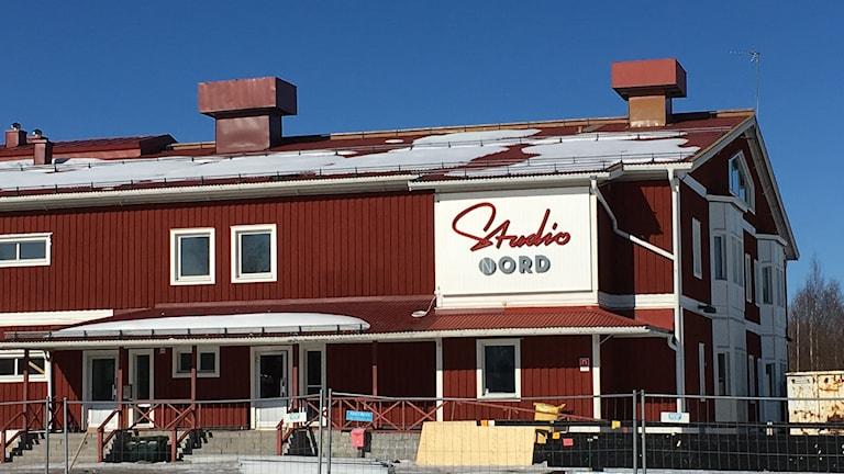 Filmpool Nords hus i Sävast där studion är inrymd. Foto: Alexander Arvidsson/Sveriges Radio