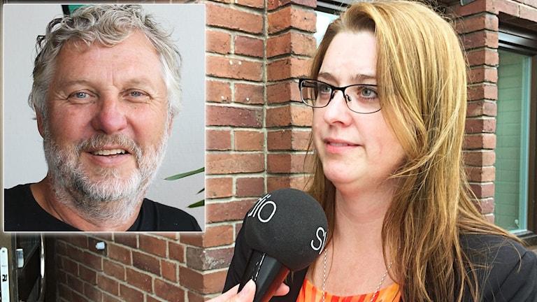 Kalix kommunalråd Ellinor Söderlund (S) med Peter Eriksson (MP) infälld.