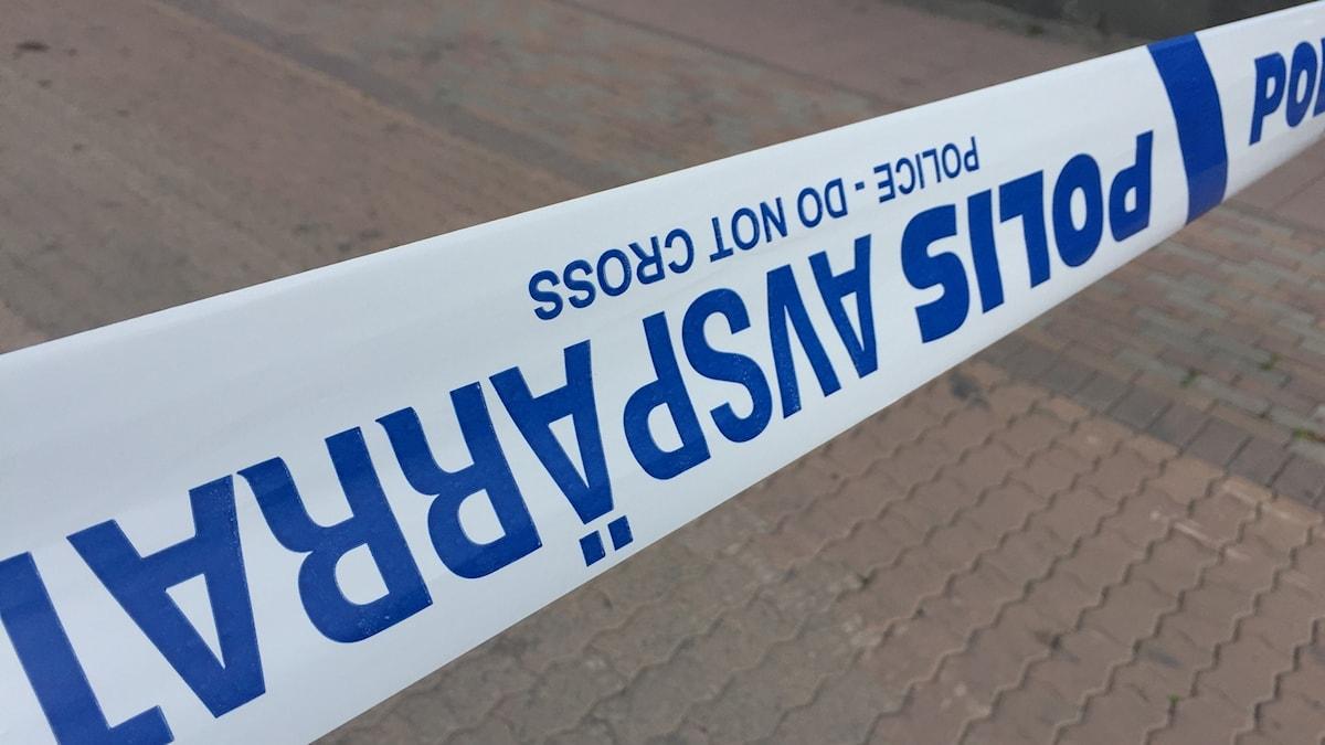 Polis polisen brott avspärrning