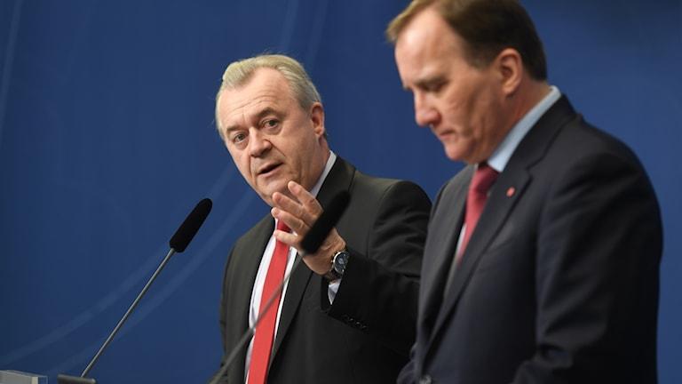 Sven-Erik Bucht och Stefan Löfven.