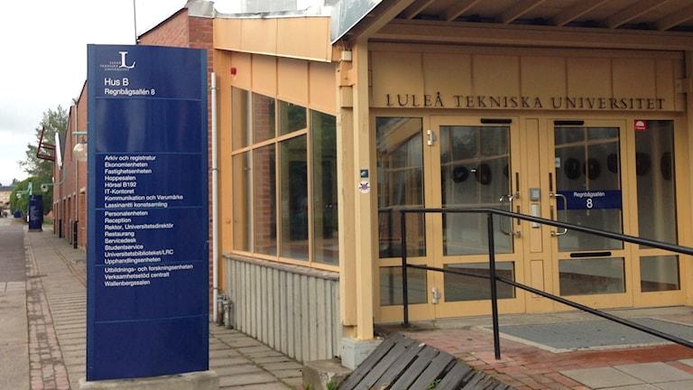 Luleå tekniska universitet, LTU huvudentre, campus i Luleå sommar. Arkivfoto: Hjalmar Lindberg/Sveriges Radio.