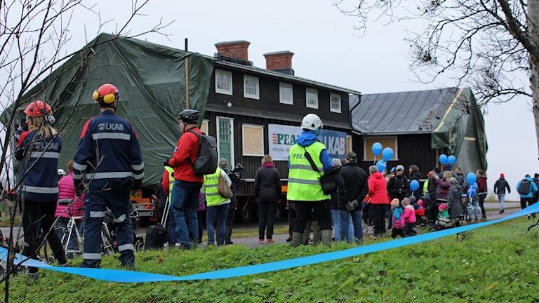 En del av Hjalmar Lundbohmsgården flyttades till en ny plats i Kiruna.