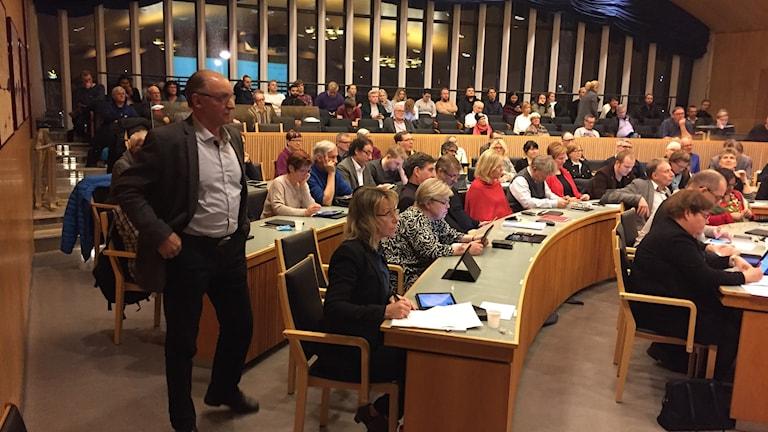 Luleå kommunfullmäktige 21 november 2016.