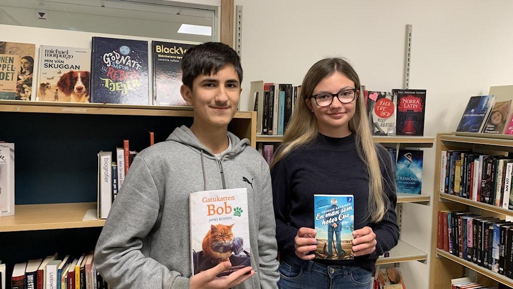 Amir Jalili och Elin Björk, elever på Tunaskolan.