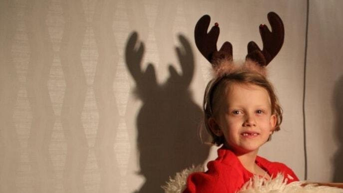 Stina Gabrielsson, 7 år, på Hertsön i Luleå.