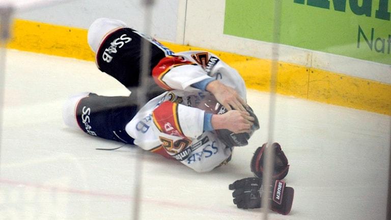 Luleå hockeys Radik Phillip fick en hjärnskakning hösten 2008.