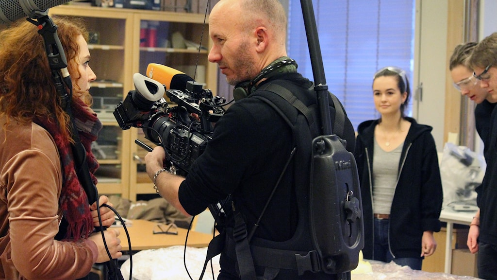 Tyska tv-bolaget ZDF besökte Rymdgymnasiet i Kiruna på torsdagen.