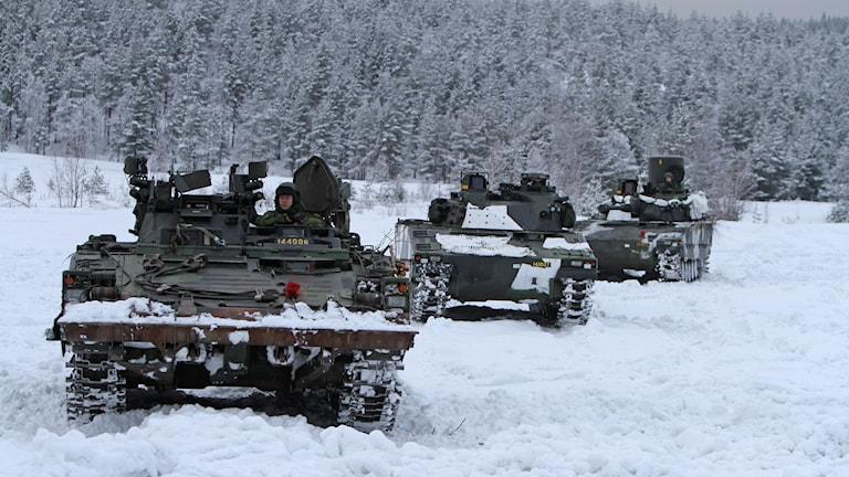 Bärgningsbandvagn 90, Ledningsvagn 90 och Luftvärnskanonvagn 90.