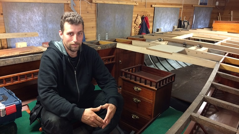 Daniel Hornberg i föreningen allmogebåtar