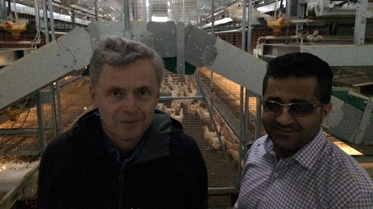 Kalix tillträdande kommunalråd Tommy Nilsson (S) och Salar Rasoul.