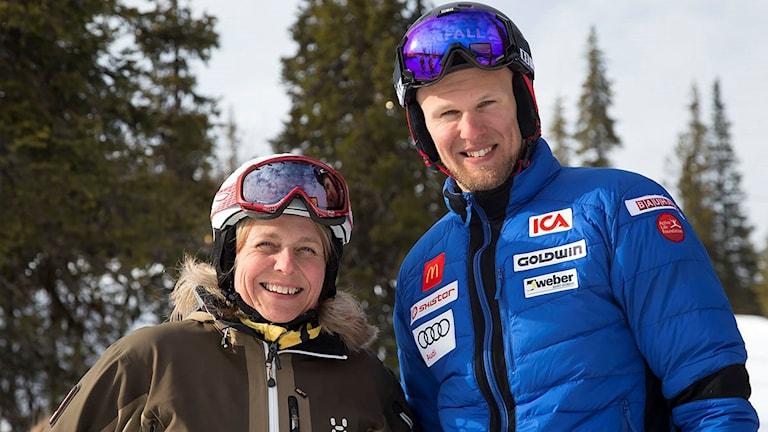 Monica Äijä-Lenndin, vd Dundret tillsammans med Anton Lahdenperä, från Gällivare och det alpina landslaget.
