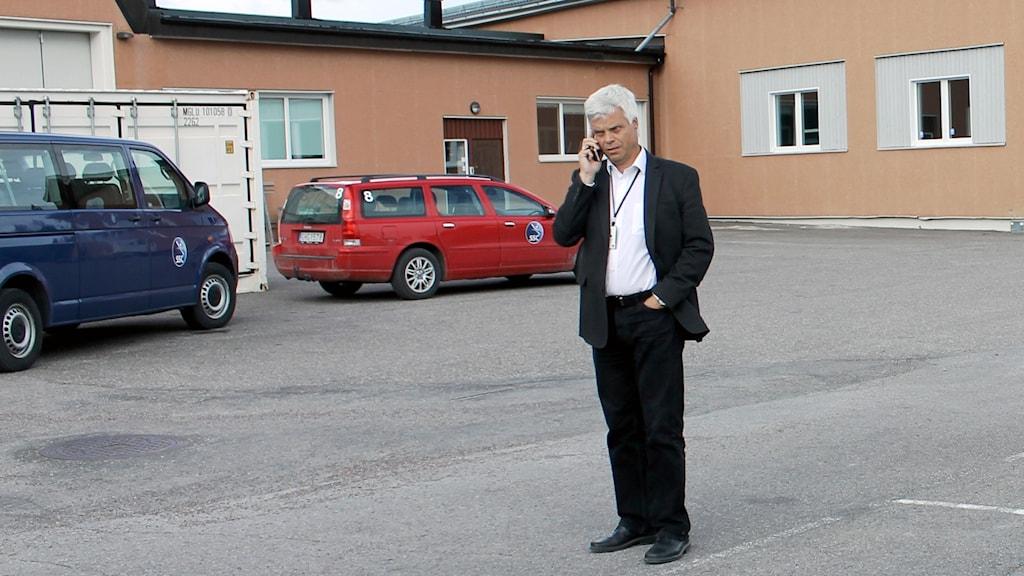 Lennart Poromaa är platchef på Esrange utanför Kiruna.