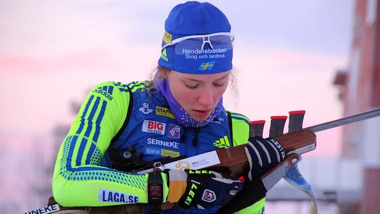 Skidskytten Hanna Öberg från Piteå.