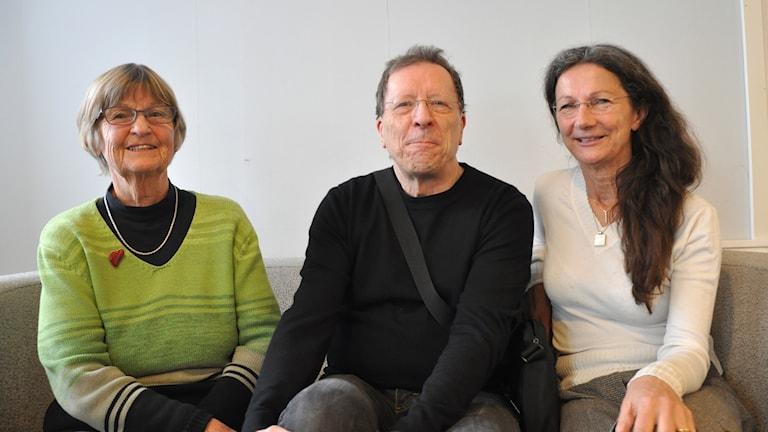 Stig-Arne Nordström, Lisa Wede och Kyllikki Kenttä