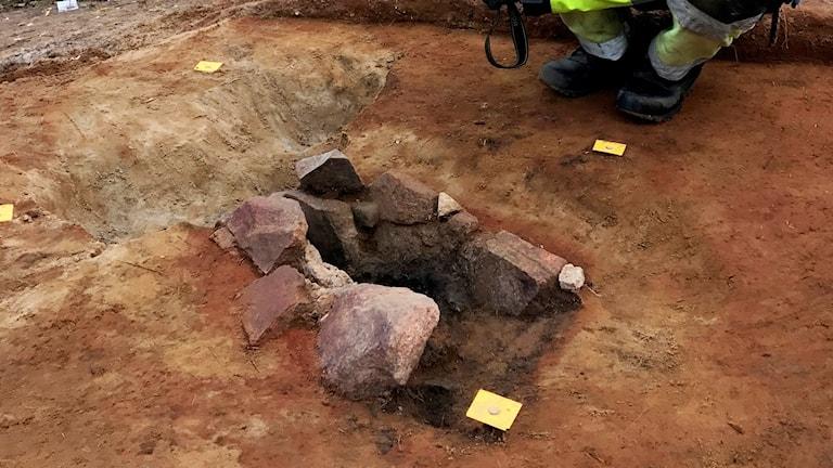 2000 år gammal ugn för järnframställning