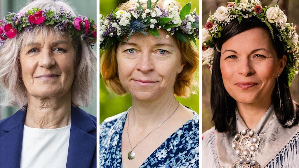 "Gunhild ""Ninis"" Rosqvist, Karin Bodin, Elin-Anna Labba sommarpratar 2021"