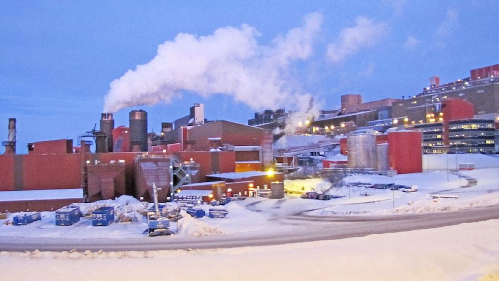 Ett av LKAB:s pelletsverk i Kiruna.